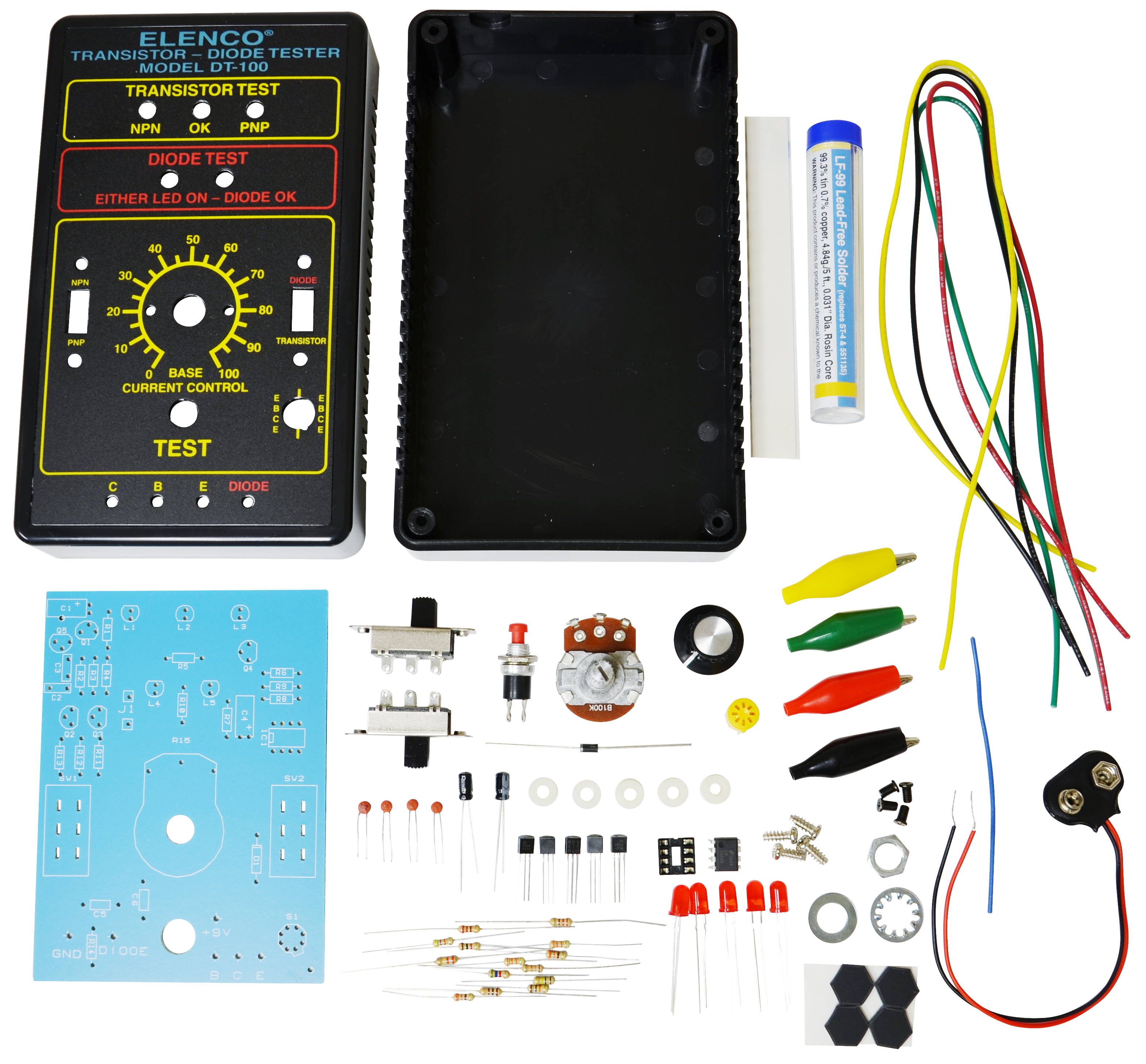Diode Transistor Tester Kit Electronic Kits Circuit With Transistors