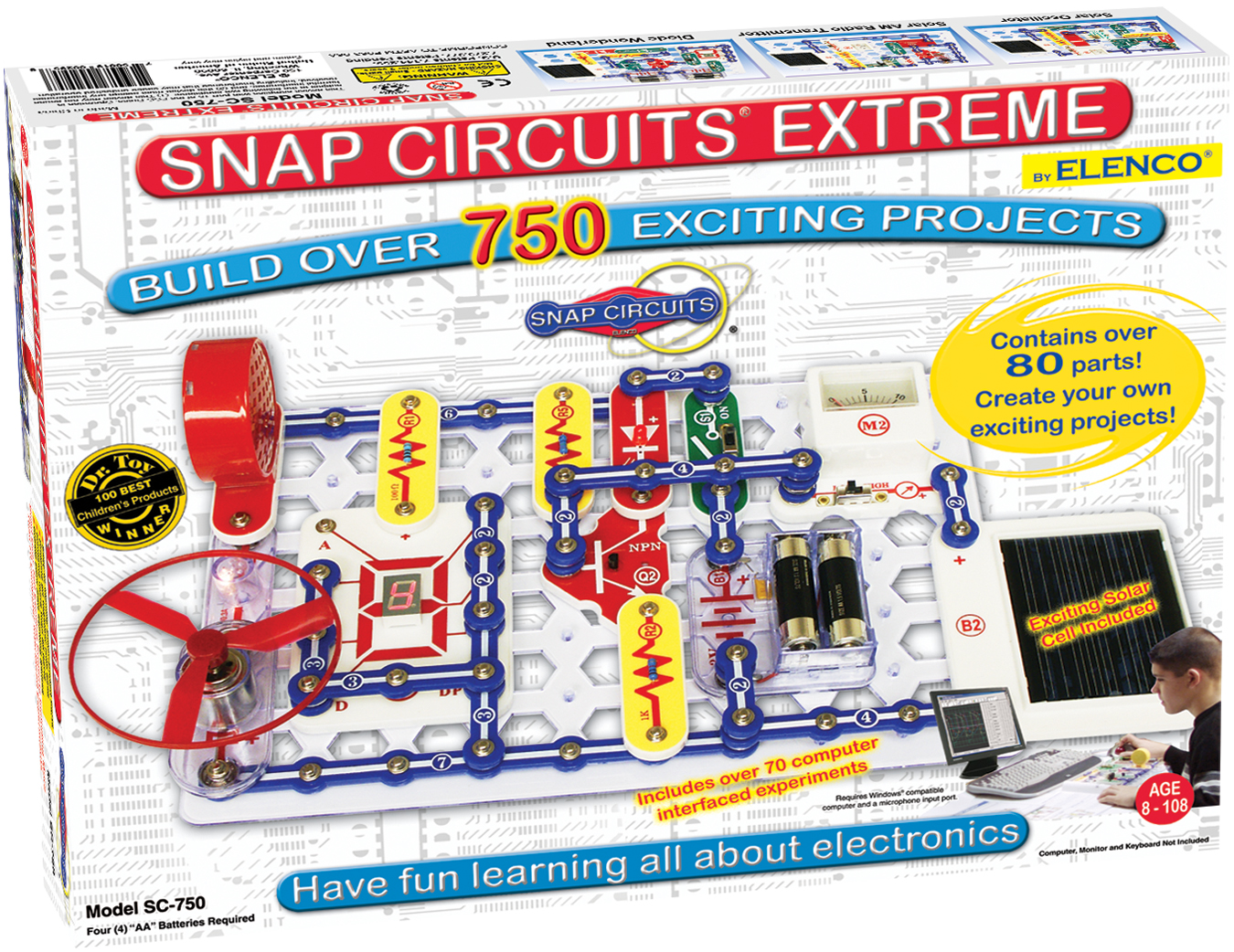 Snap Circuits Extreme 750 Experiments Sc750 Circuit Projects For Electronics Sc750main