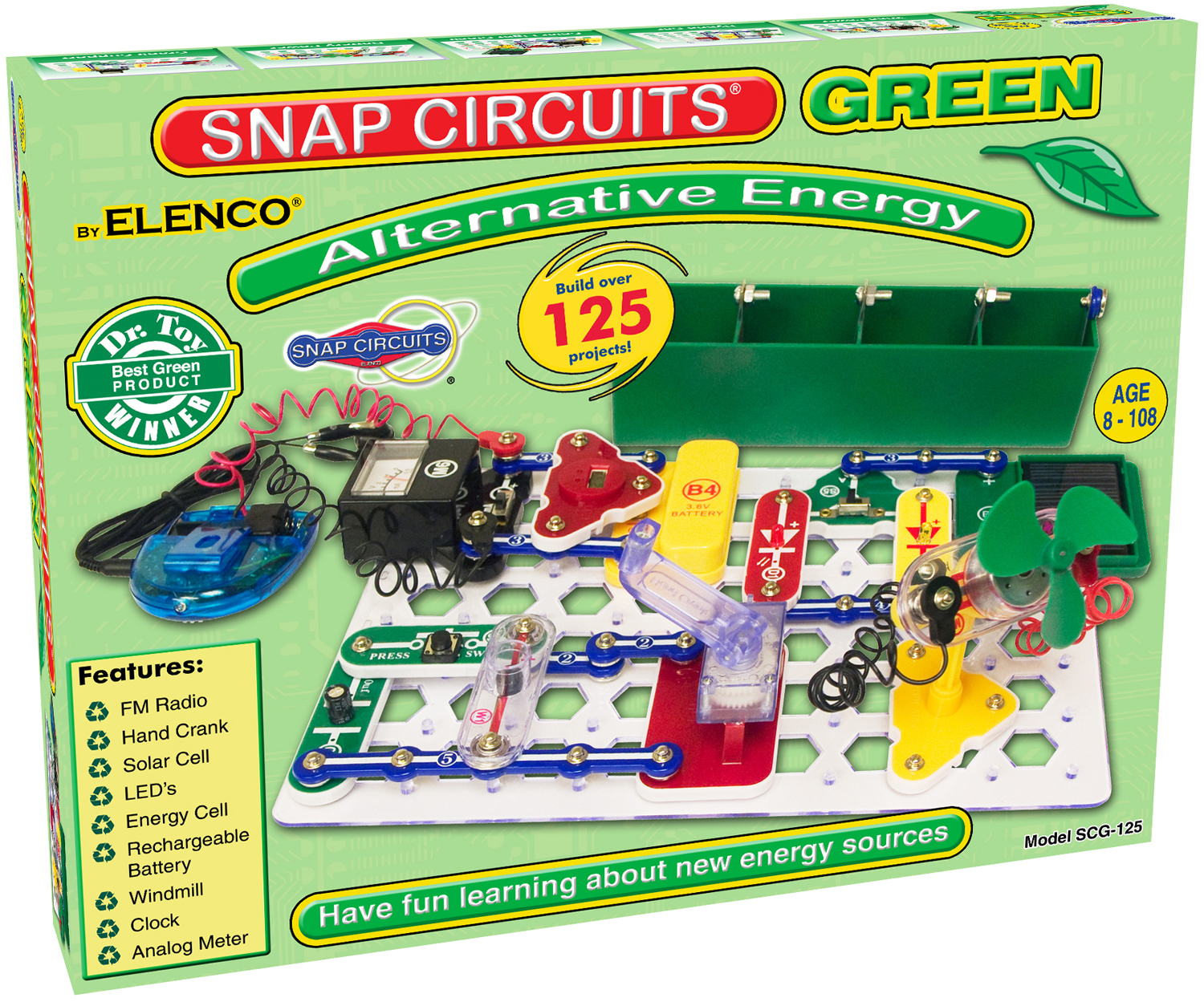 snap circuits green sg125 electronics learning lab electronic kits rh electronickits com electronic snap circuits 300 electronic snap circuits sc-300