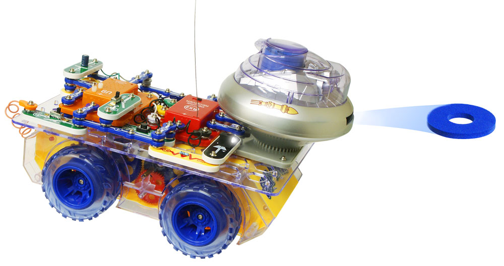 deluxe snap circuits rc rover kit scrov 50 rh electronickits com snap circuits rc rover deluxe snap circuits rc rover deluxe