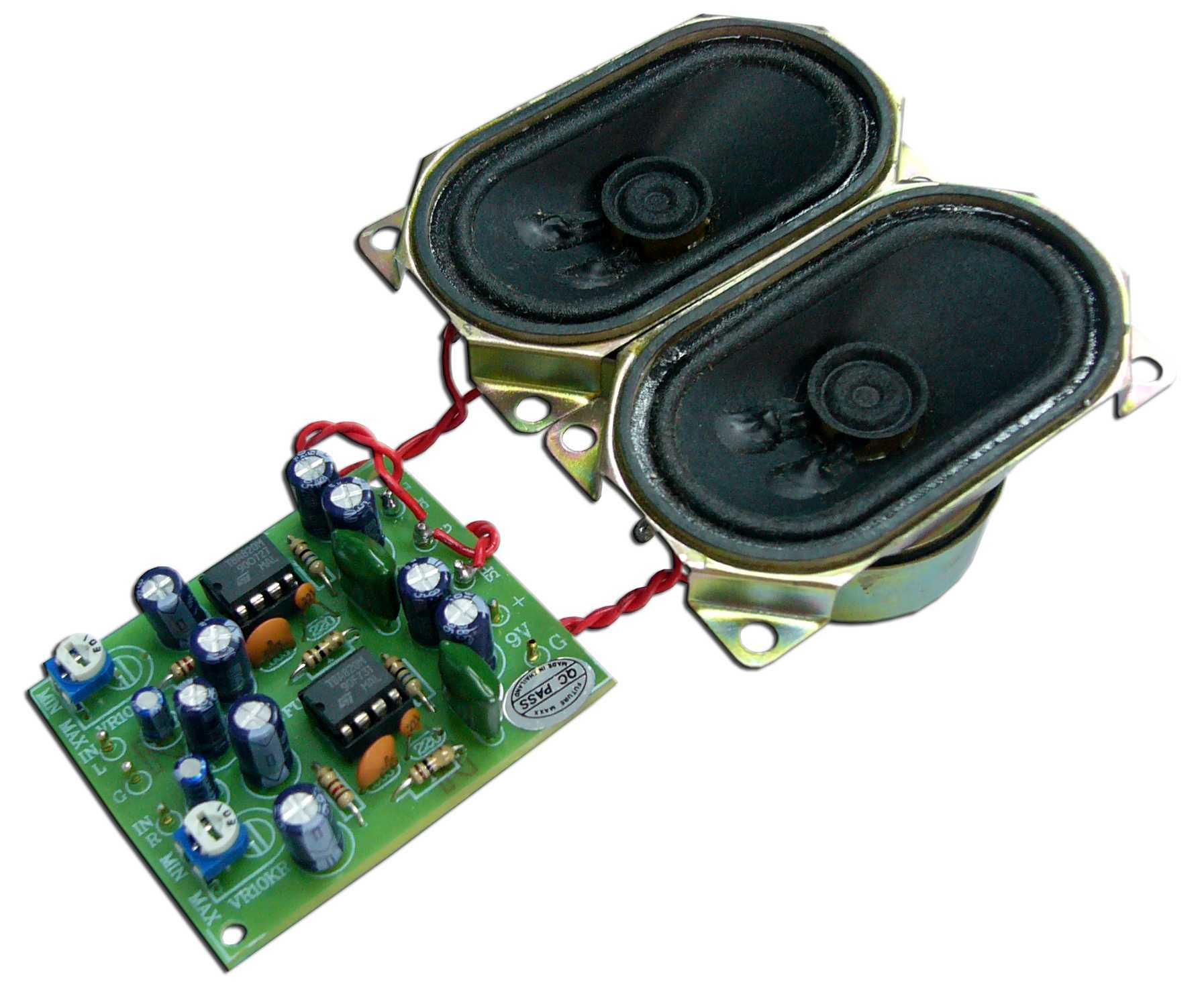 Mini Audio Amplifier Kit 2w Stereo With Speakers Electronic Kits Power Transistor Circuits Projects Sound Circuit