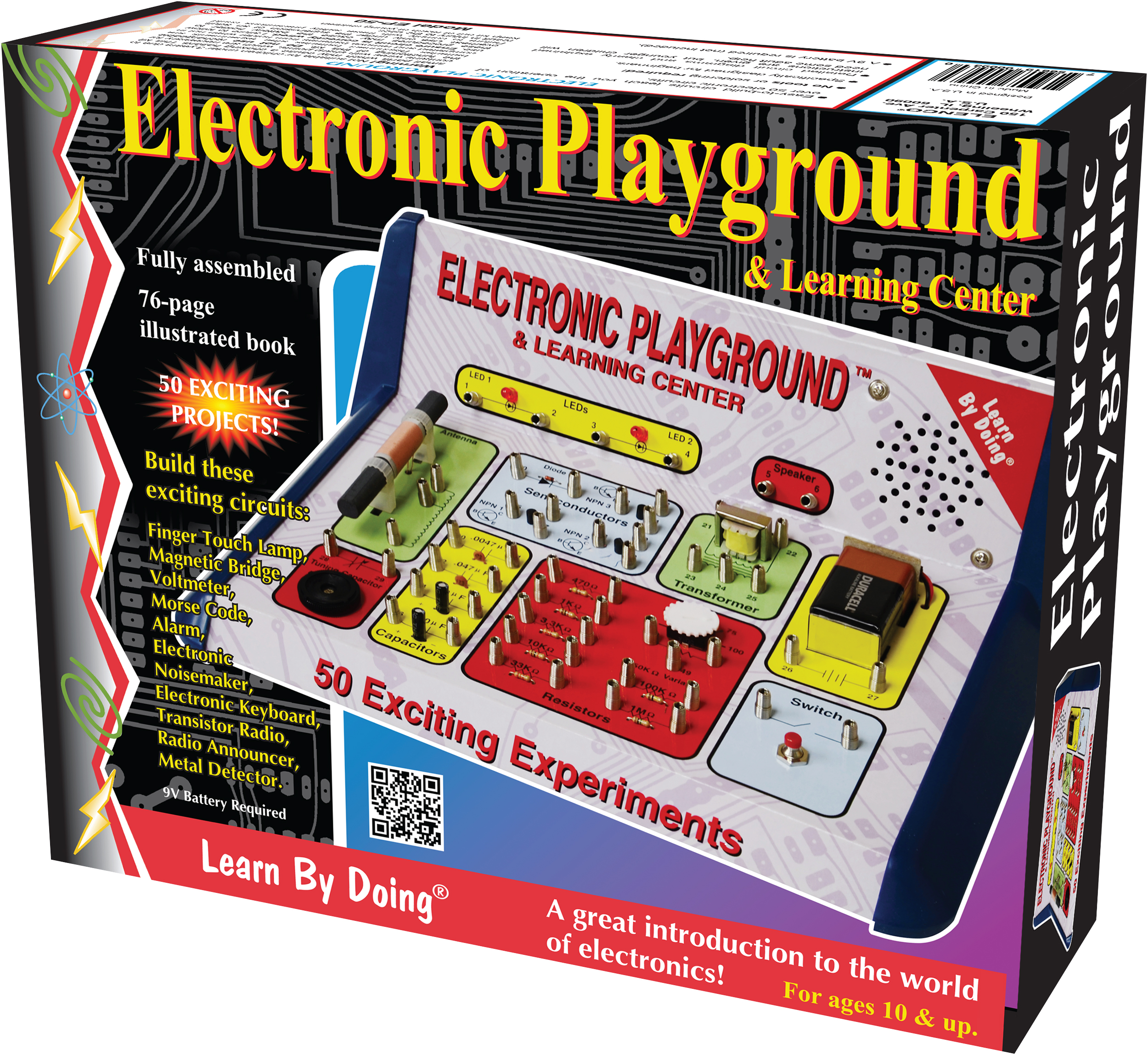 50 In 1 Electronics Learning Lab Elenco Ep50 Home Snap Circuits Green 2
