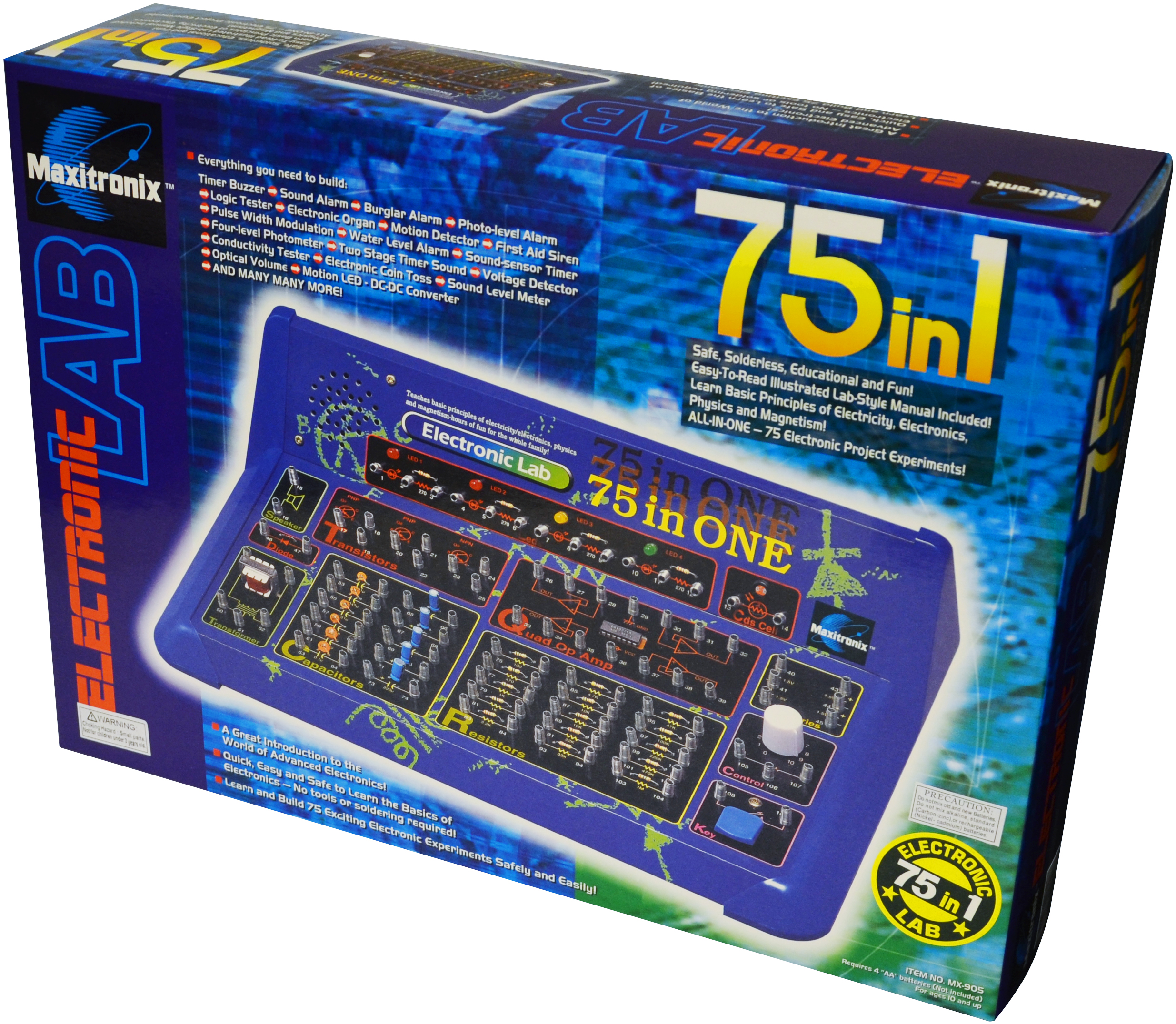 Elenco 75 In 1 Electronics Learning Lab Mx905 Circuits Projects Electronic Kits Hobby More 2