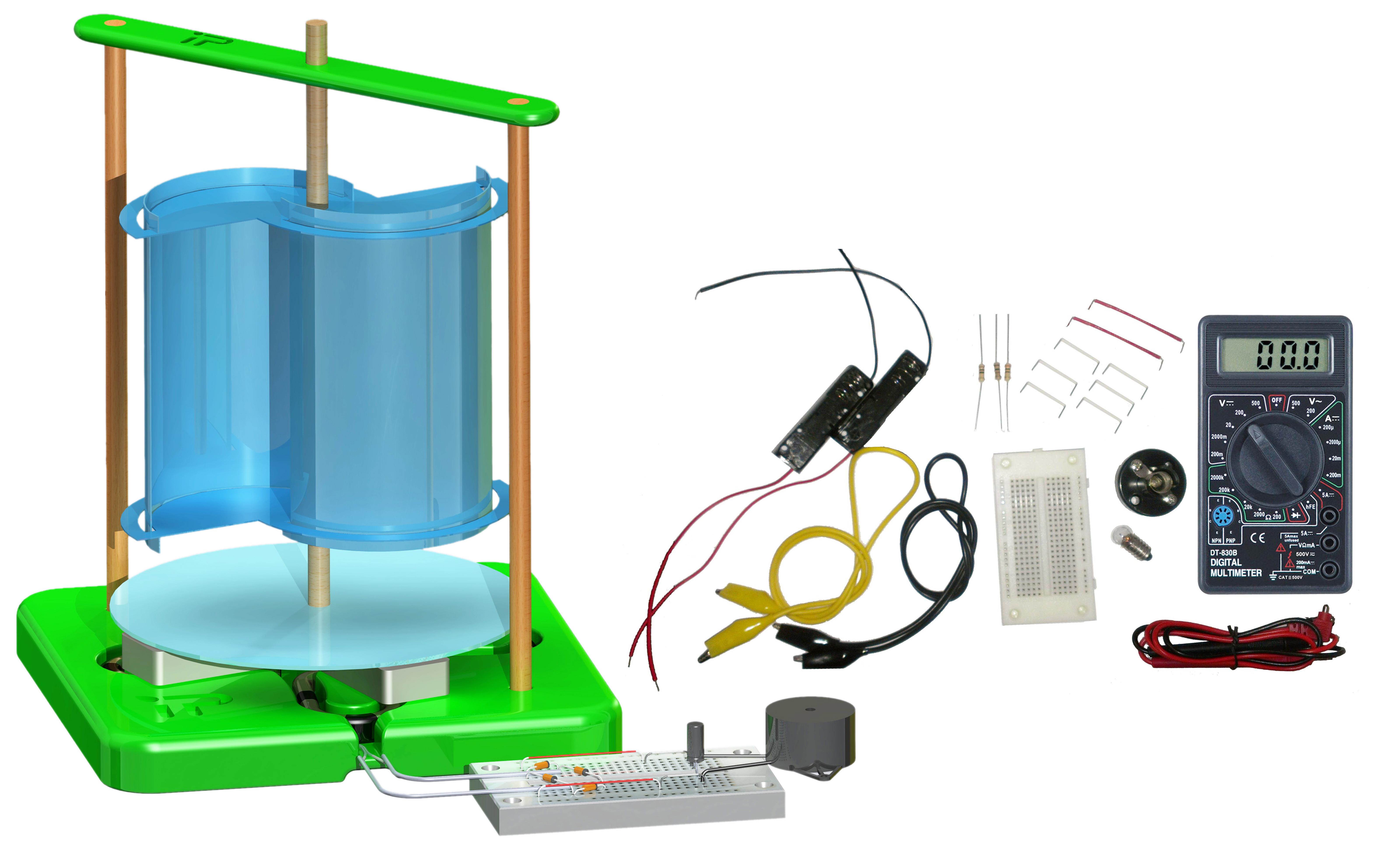 PicoTurbine Savonius Wind Turbine Kit (AC) Advanced