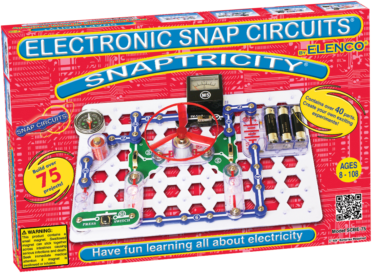 Snap Circuits Snaptricity Learning Lab Electronic Kits Electricity And Scbe75 Main