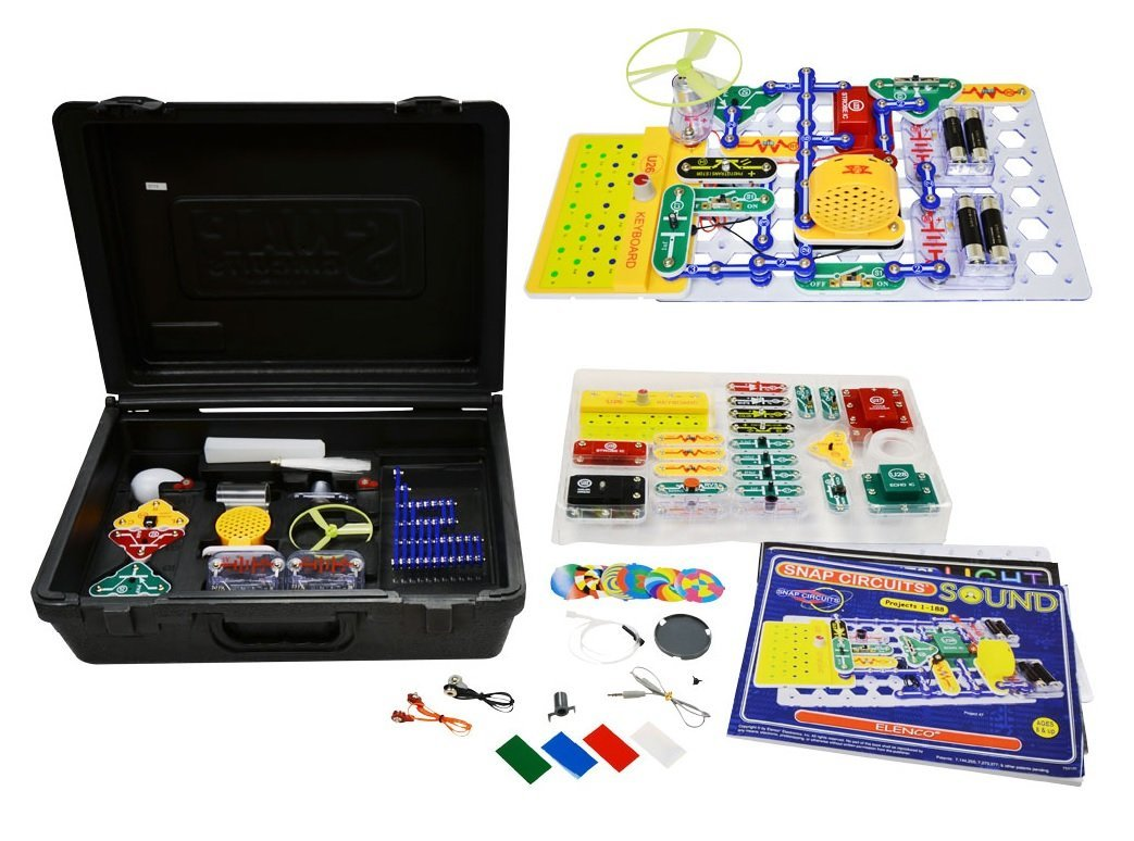 Snap Circuits Deluxe Sound And Light Combo Electronic Kits Jr 100 Kit