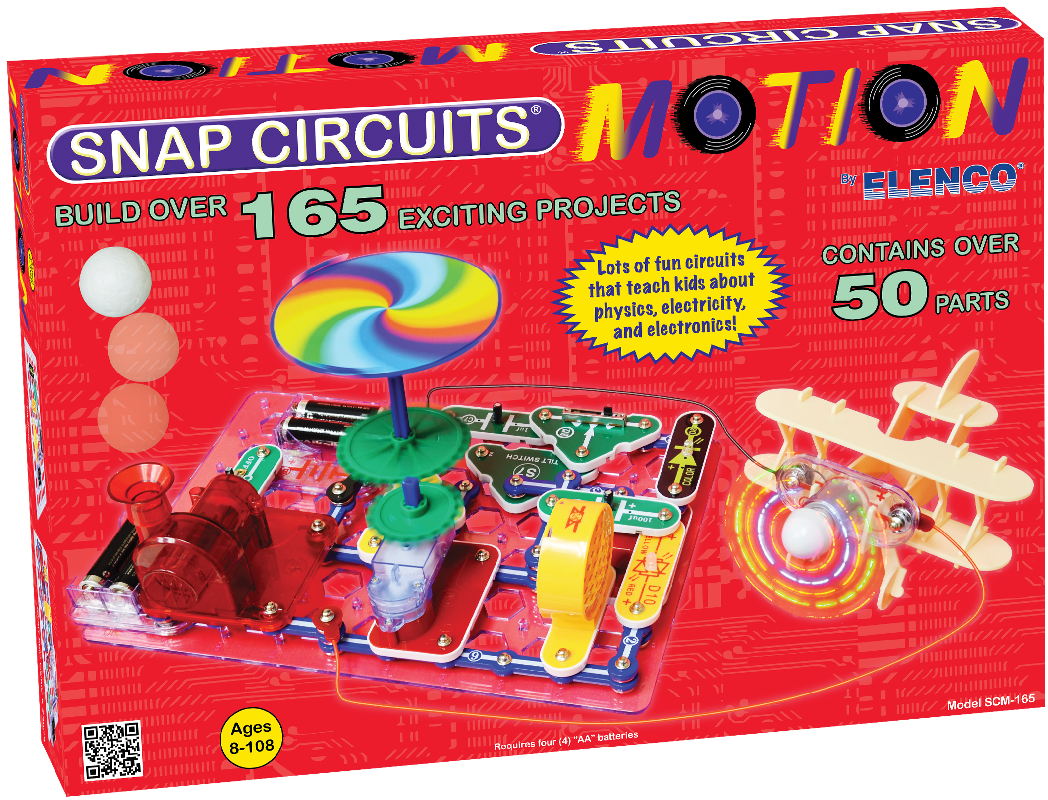 Snap Circuits Motion Electronics Learning Lab Electronic Kits Electricity And Scm165 Main