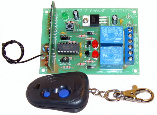 Auto-Roll 2 Channel RF Transmitter and Receiver Kit